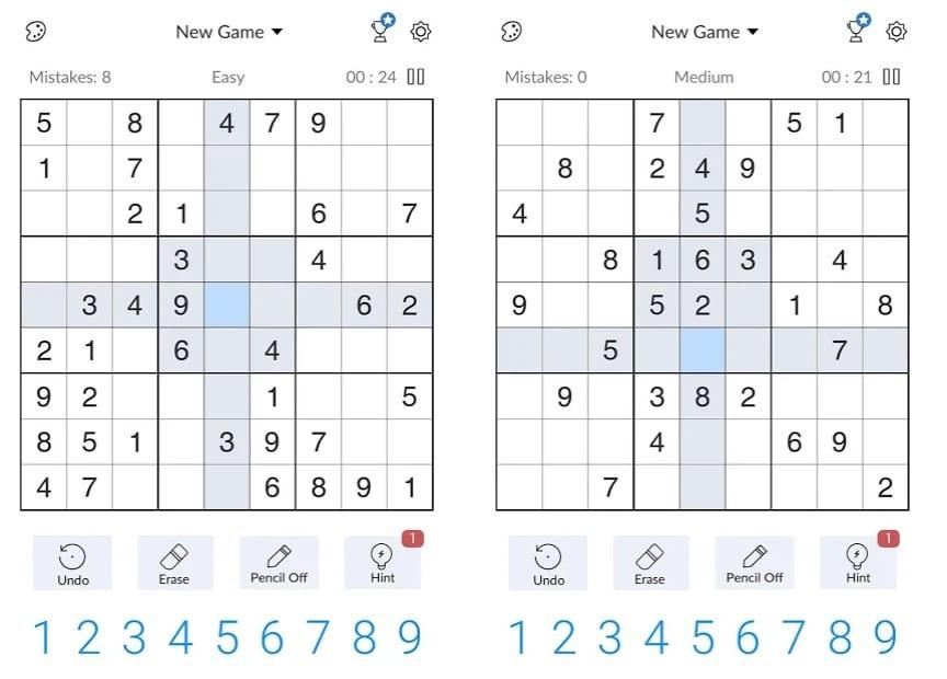 Free Classic Sudoku Puzzles app
