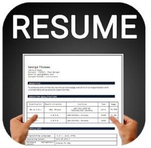 Resume builder Free CV maker templates formats app logo