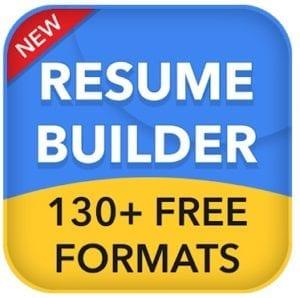Resume builder free CV maker app curriculum vitae logo
