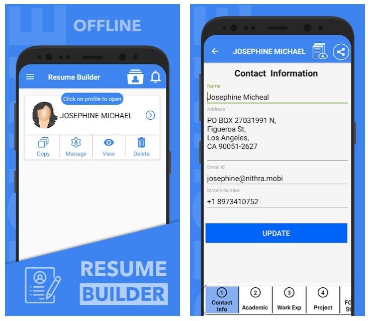Resume builder free CV maker app curriculum vitae