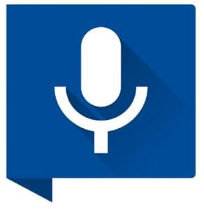 Write SMS by voice logo