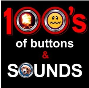 100's of Buttons & Prank Sound Effects logo