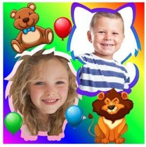 Baby photo collage logo