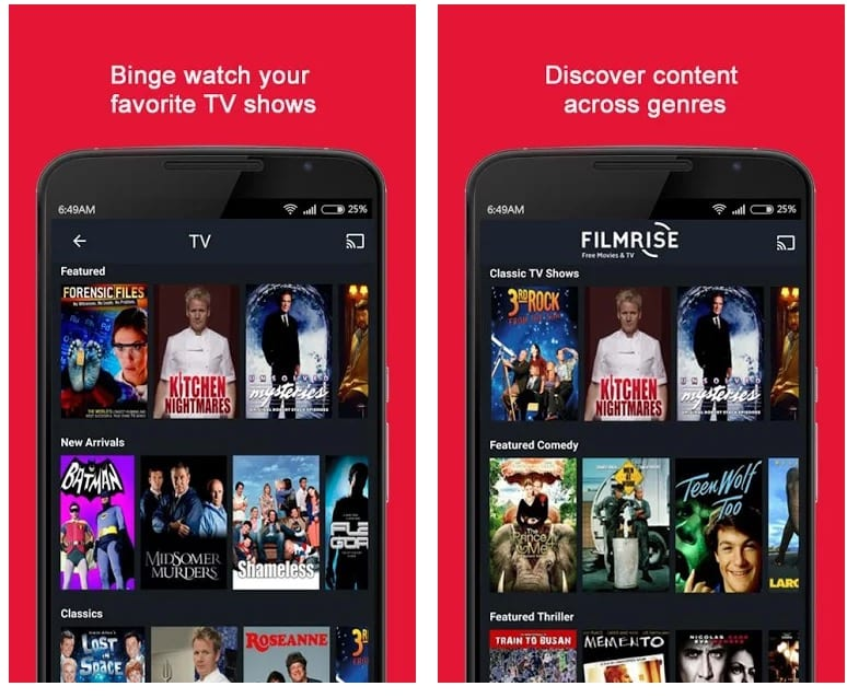 FilmRise app