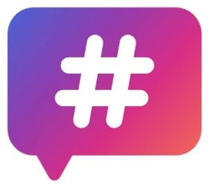 Hashtags - for likes for Instagram logo