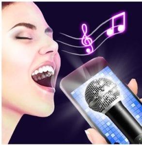 Karaoke voice sing & record logo
