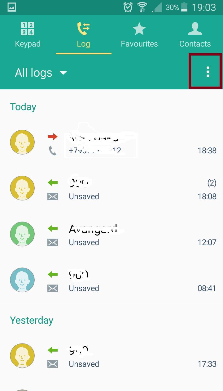 block number samsung
