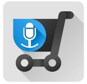 Shopping list voice input logo