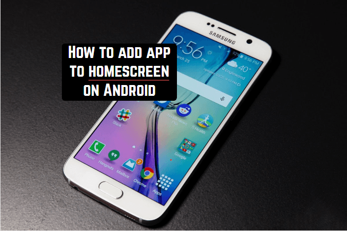 How to add app to homescreen on Android | Android apps for