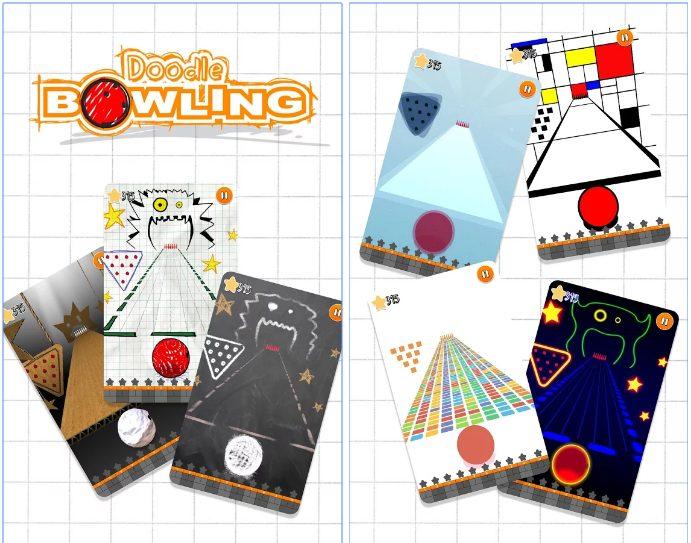 Doodle Bowling app
