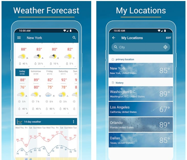 Weather & Radar app