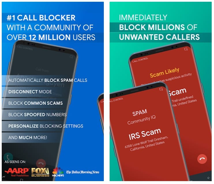 Call Control - SMS:Call Blocker