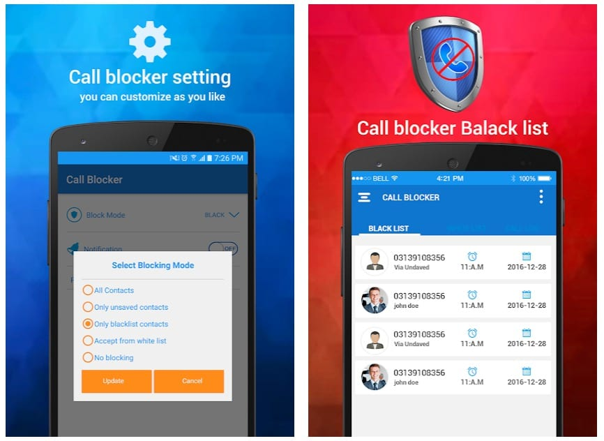 Calls Blacklist - Call & SMS Blocker app