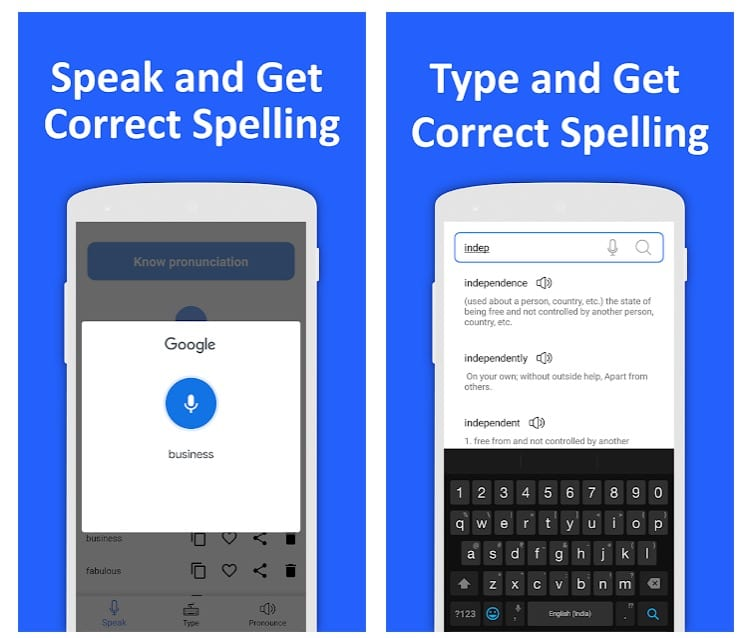 Correct Spelling (Voice-based Spelling checker)