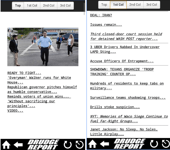 drudge report mobile android