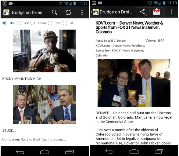 Drudge Report on Droid
