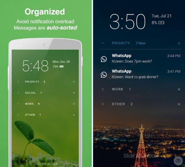 Echo Notification Lockscreen app
