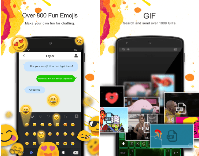 Flash Emoji Keyboard & Themes app