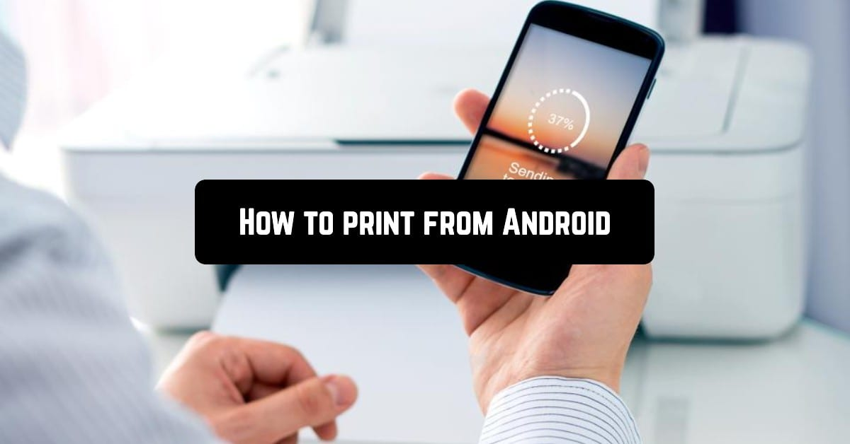 How to print from Android