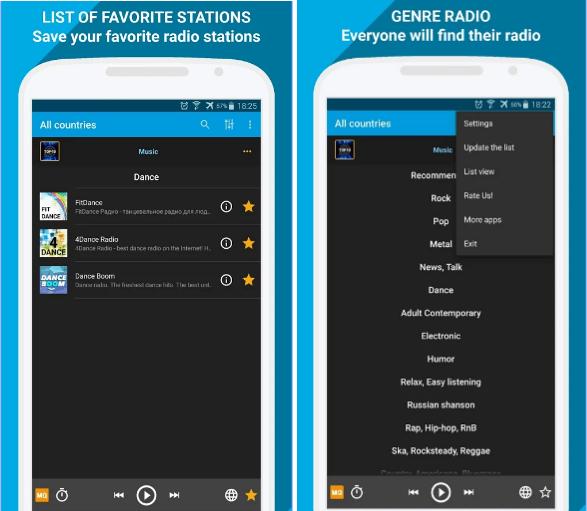 PCRADIO app