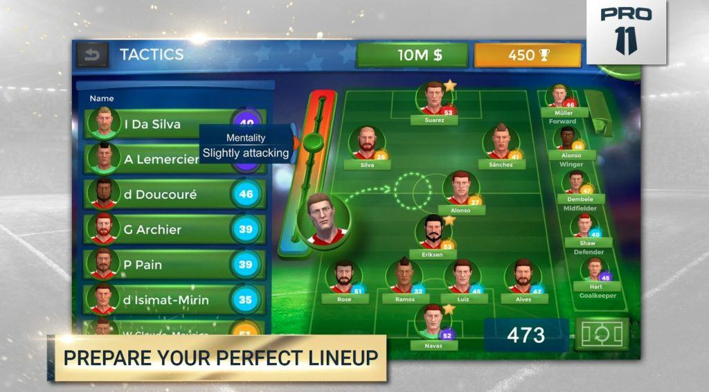 Pro 11 - Soccer Manager Game