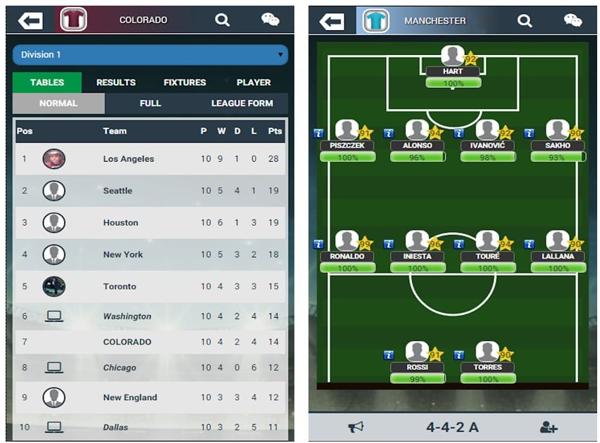 Soccer Manager is a soccer management simulator, in which you will have the opportunity to become a manager of a soccer club to bring it to fame. You will be competing online with other players with the same goal as you. Like in most similar games, the key feature of Soccer Manager is the sale and purchase of players. You can hire and sell any player by discussing the deal with other clubs. For example, you have an excellent player on the left flank, in which another club is interested, and you will be ready to make a deal if the club offers you a good defender, which your team needs. In addition to making deals with players, you have to manage the team during the whole soccer season, which is very realistic in this game. You can participate in a league, a cup and, of course, an international cup. To win all these trophies, you will need not just a mediocre team led by one great player, but a really serious team of outstanding players. The numbers in the game are no less interesting: 50,000 players and more than 2,000 teams, as well as a lot of options concerning strategies and tactics. Soccer Manager is a full-featured sports game related to soccer club management. Soccer Manager has a clear interface and well thought out gameplay that can capture your attention for more than one hour.
