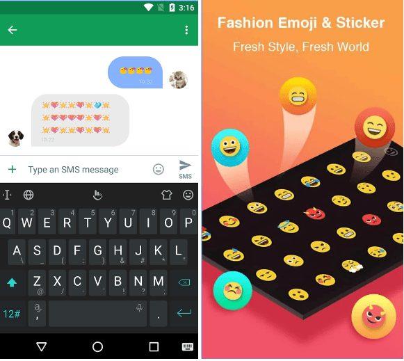 TouchPal Emoji Keyboard app