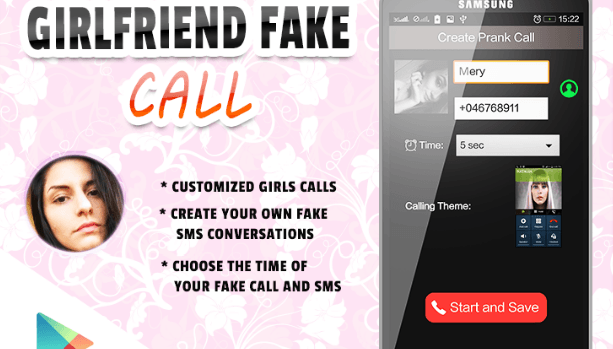Virtual Girlfriend Fake Call