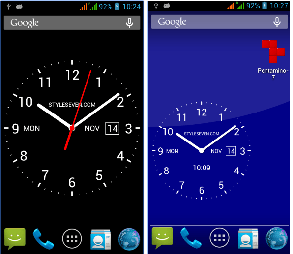 Analog Clock Live Wallpaper-7 app