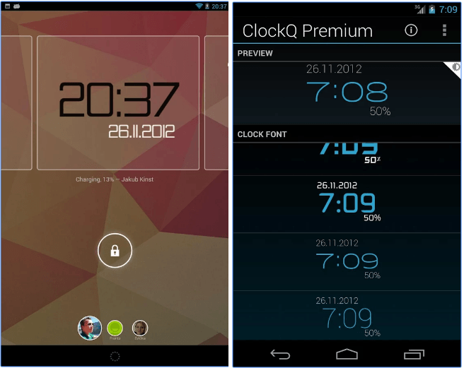 ClockQ - Digital Clock Widget app