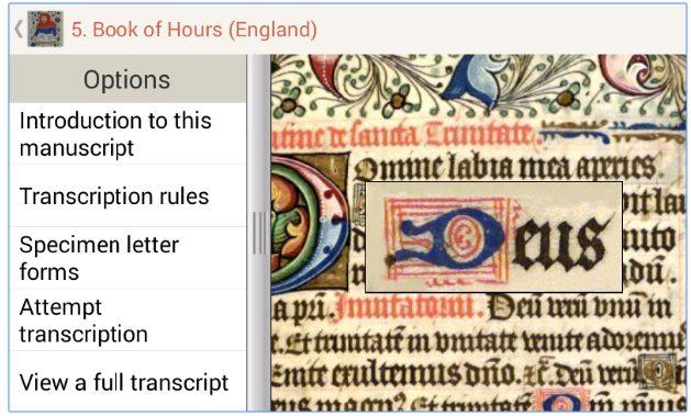 Medieval Handwriting app