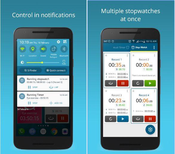 Multi Timer StopWatch app