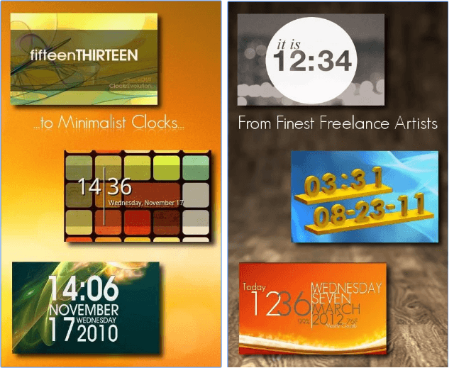 One More Clock Widget Free app
