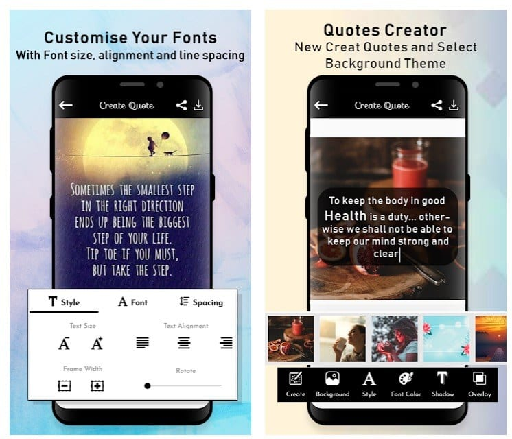 15 Best Quotes Creator Apps For Android Android Apps For Me Download Best Android Apps And More