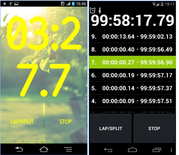 Stopwatch & Timer droid app