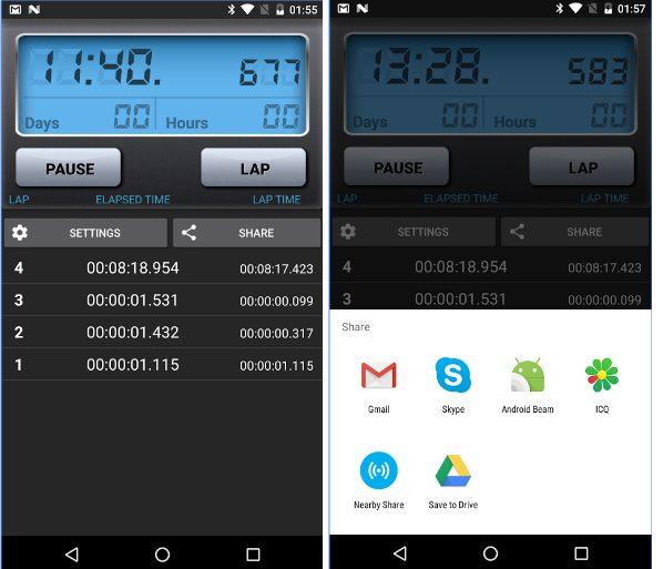 Stopwatch app