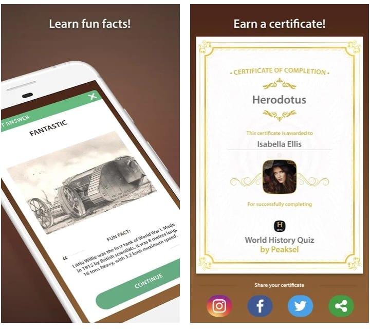 World History Quiz app