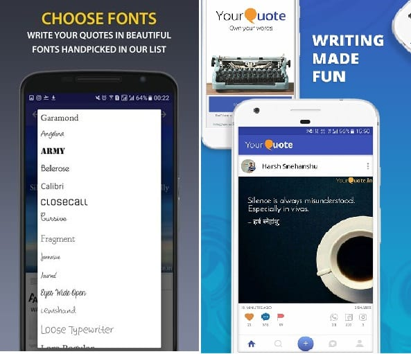 15 Best Quotes Creator Apps For Android Android Apps For Me