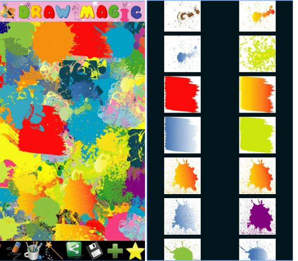Abstract painter for kids app
