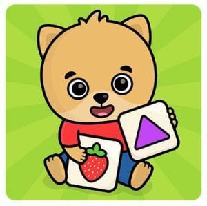 Baby flash cards for toddlers logo