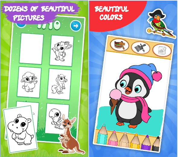 Coloring games for kids animal app