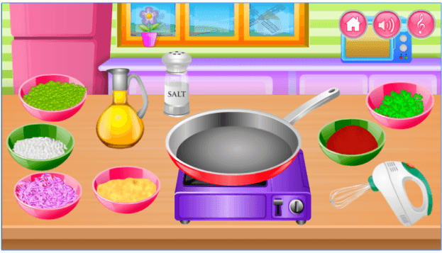 Cooking in the Kitchen app