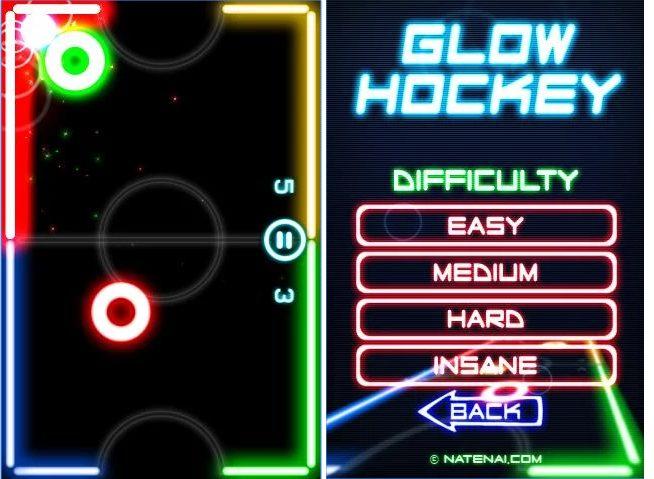 Glow Hockey app