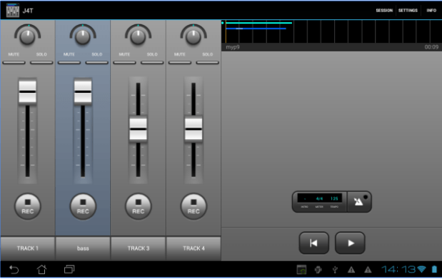 J4T Multitrack Recorder app