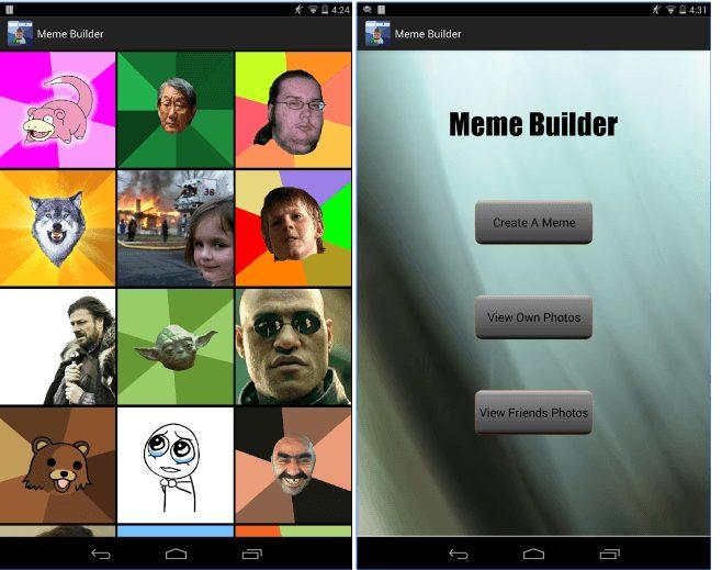 Meme Builder app