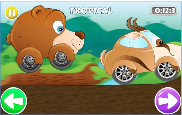 Speed Racing game for Kids app