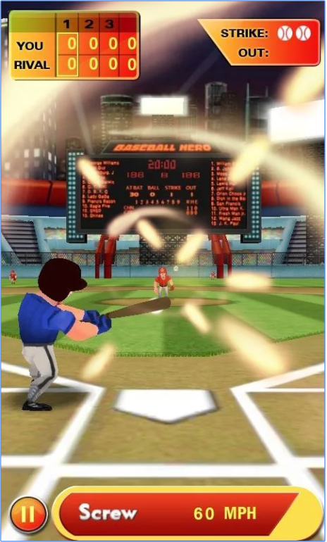 Baseball Hero app
