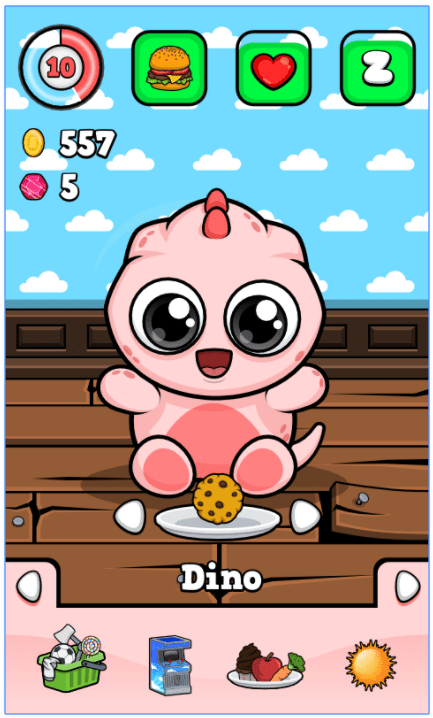 Dino 🐾 Virtual Pet Game app