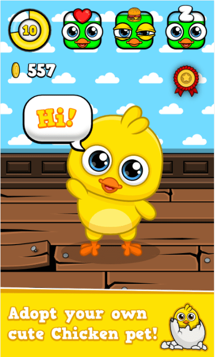 My Chicken - Virtual Pet Game app