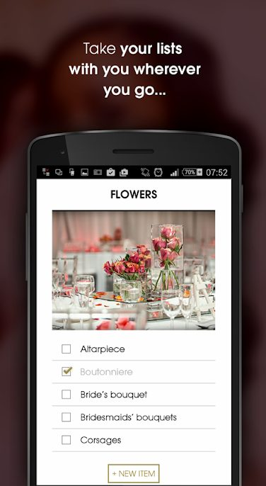 The Wedding Planner app